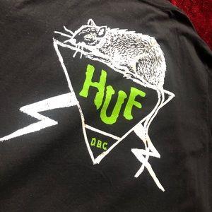 HUF men's XL black t-shirt.